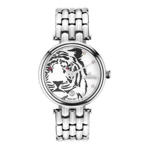 Richtenburg Women's Silver Stainless Steel Tiger Quartz Watch