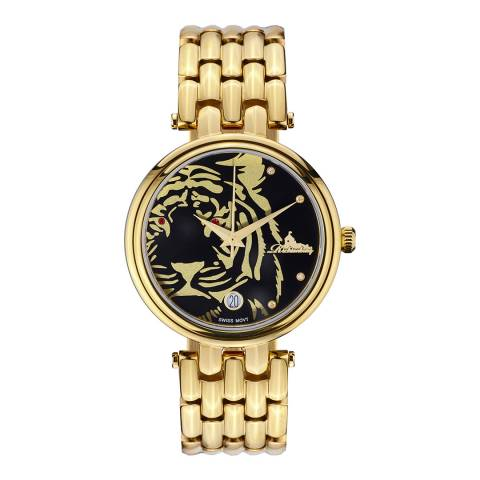 Richtenburg Women's Gold Stainless Steel Tiger Quartz Watch