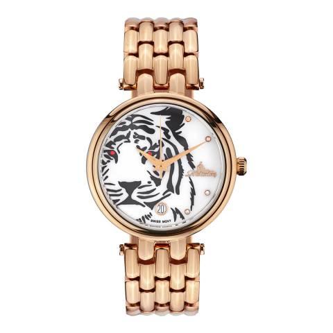 Richtenburg Women's Redgold Tiger Stainless Steel Quartz Watch