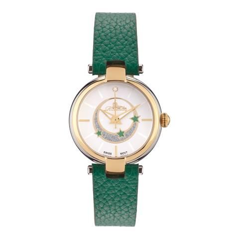 Richtenburg Women's Green Leather Stainless Steel Quartz Watch