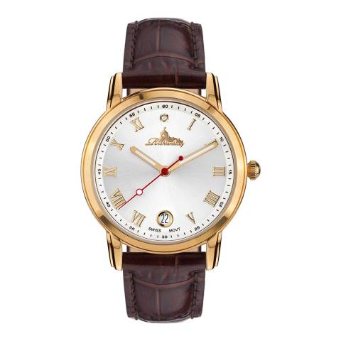 Richtenburg Women's Brown Leather Stainless Steel Gilded Quartz Watch