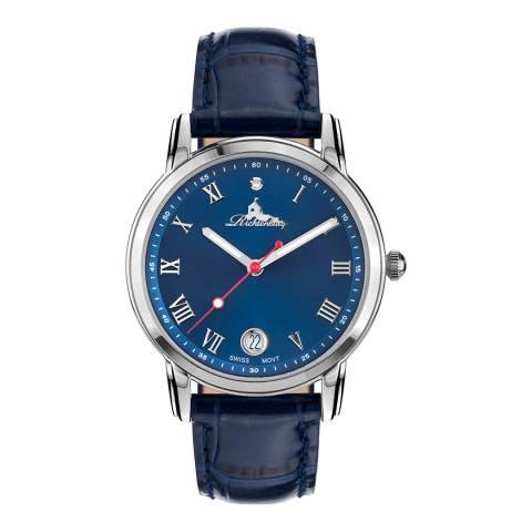Richtenburg Women's Blue Face Stainless Steel Quartz Watch