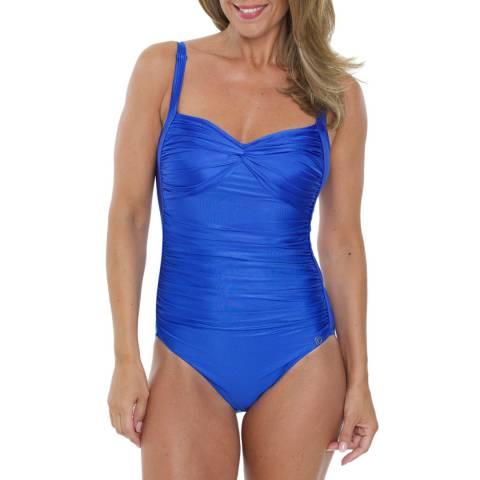 Seaspray Sapphire Just Colour Twist Front Swmsuit
