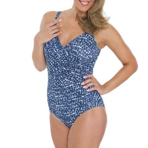 Seaspray Blue Cassiopia Classic Draped Swimsuit