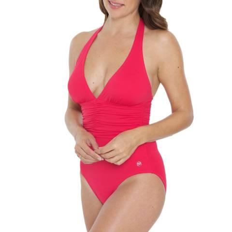 Seaspray Pink Halter Swimsuit