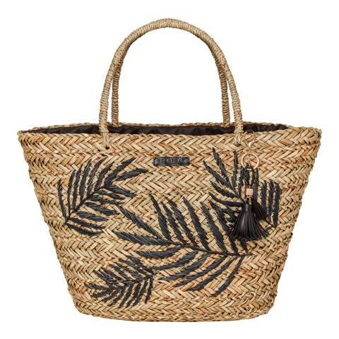 Seaspray Natural Seaspray Palm Leaf Tassel Bag