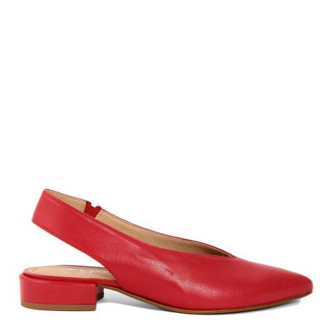 Gusto Red Leather Slingback Shoes