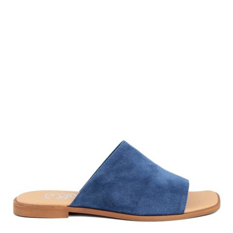 Gusto Royal Blue Suede Flat Sandals