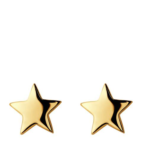 Links of London Yellow Gold Vermeil Star Earrings