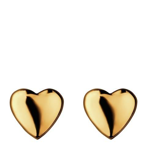 Links of London Yellow Gold Vermeil Heart Earrings