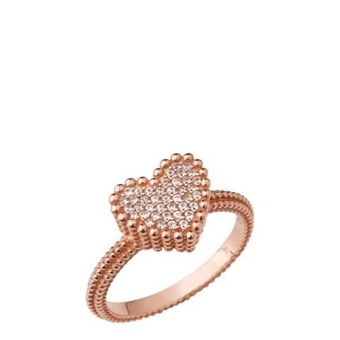 Links of London Rose Gold Plate Heart Ring