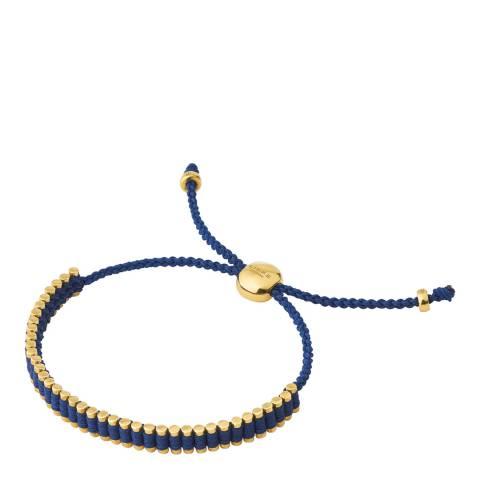 Links of London Navy Yellow Gold Vermeil Friendship Mini Bracelet