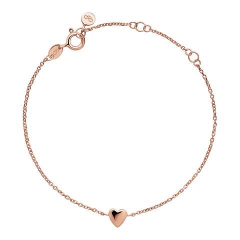 Links of London Rose Gold Vermeil Heart Bracelet