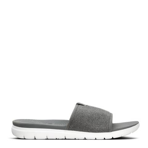FitFlop Charcoal Grey Uberknit Sliders