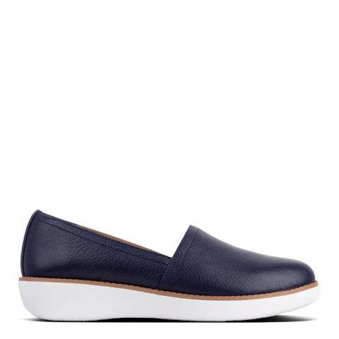 FitFlop Navy Leather Casa Loafers