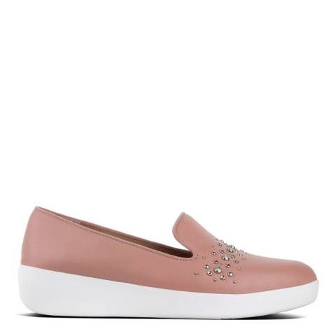 FitFlop Apple Blossom Leather Audrey Pearl Stud Loafers