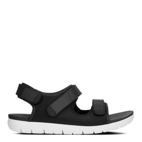 FitFlop Black Mix Neoflex Back-Strap Sandals