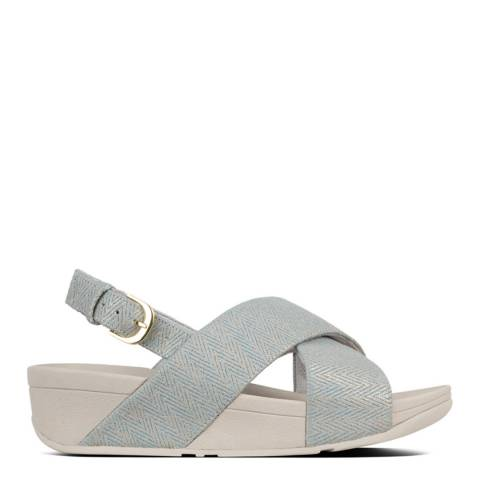 FitFlop Pearl Blue Canvas Lulu Mirage Sandals
