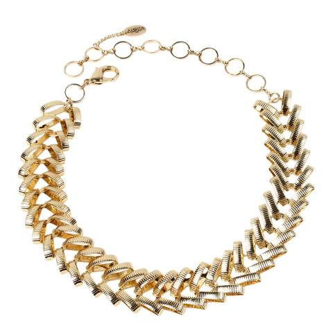 Amrita Singh Gold Tone Braided Collar Necklace