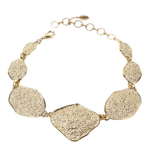 Amrita Singh Gold Tone Asymmetrical Shapes Collar Necklace