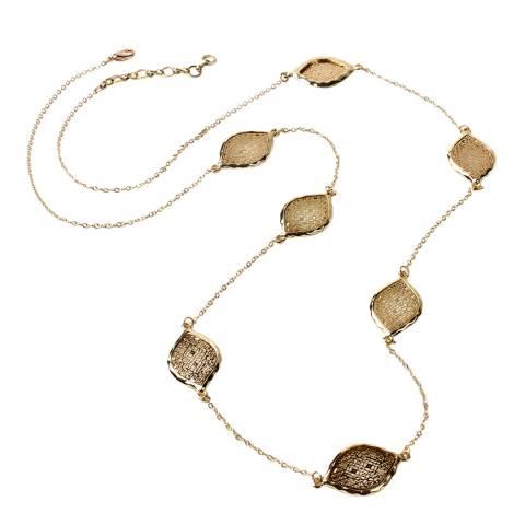 Amrita Singh Gold Tone Embellished Long Station Necklace