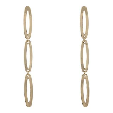 Amrita Singh Gold Tone Thin Linear Link Earrings