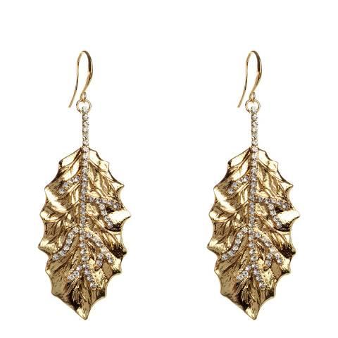 Amrita Singh Gold Tone Leaf Earrings