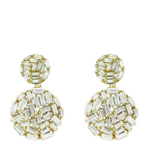 Black Label by Liv Oliver Gold Crystal Earrings