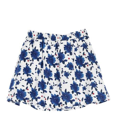 Little Marcel Kids Blue and White Floral Skirt
