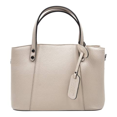 Anna Luchini Beige Top Handle Bag
