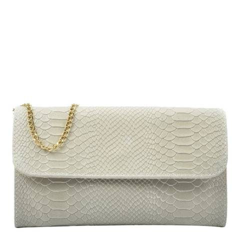 Isabella Rhea Beige Leather Clutch Bag