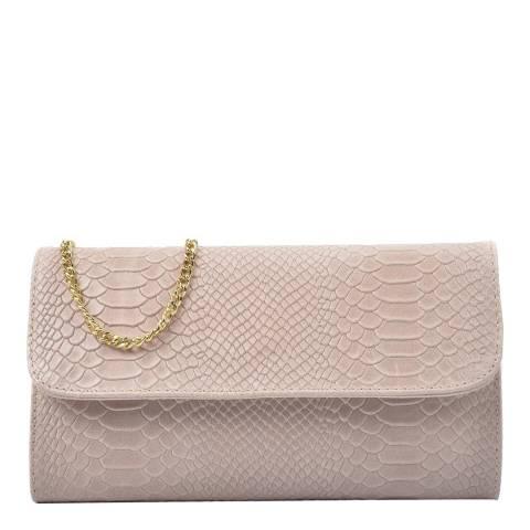 Isabella Rhea Blush Leather Clutch Bag