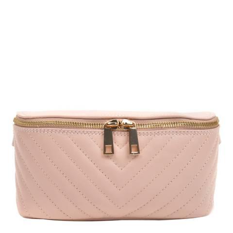 Anna Luchini Blush Leather Waist Bag