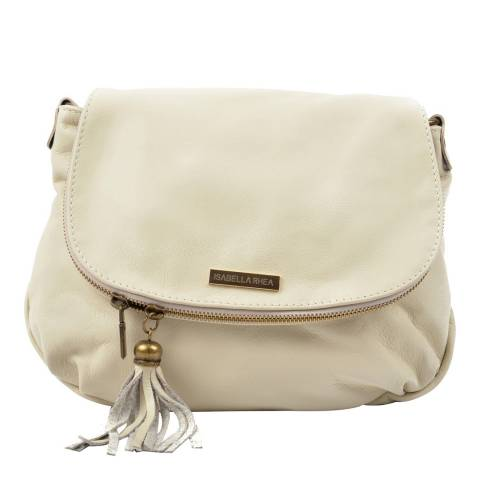 Isabella Rhea Cream Leather Crossbody Bag
