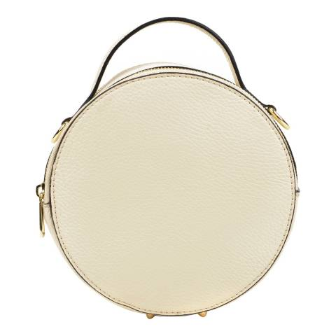 Isabella Rhea Beige Leather Circular Shoulder Bag