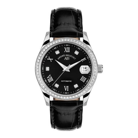 Andre Belfort Women's Black/Silver Diamond Aphrodite Watch