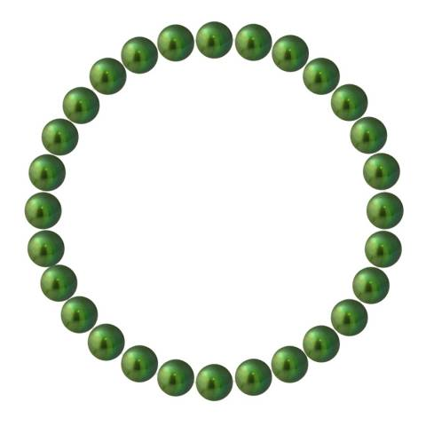 Mitzuko Green Pearl Elasticated Bracelet