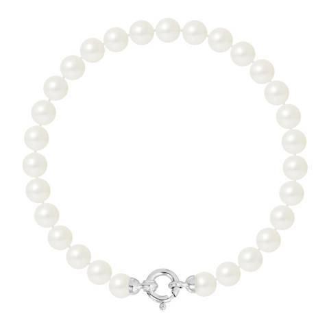 Mitzuko White Row Pearl Bracelet