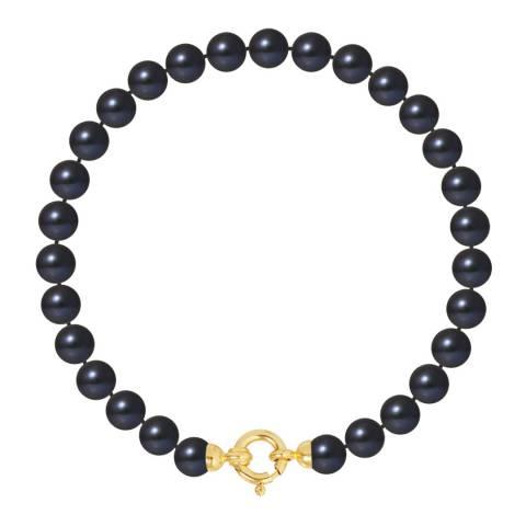 Mitzuko Black Row Pearl Bracelet GLD