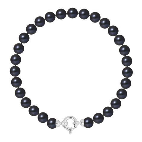 Mitzuko Black Row Pearl Bracelet