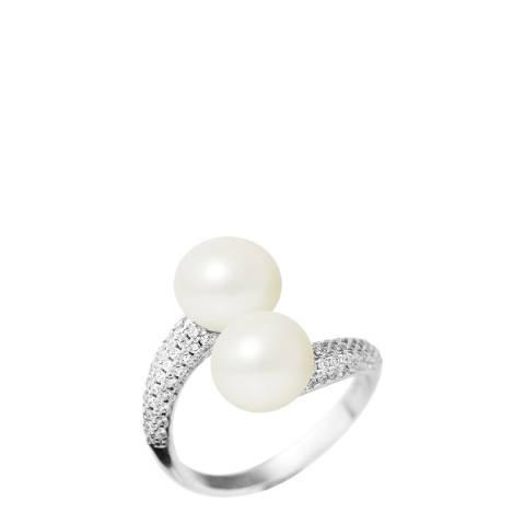 Mitzuko White Pearl Twist Ring