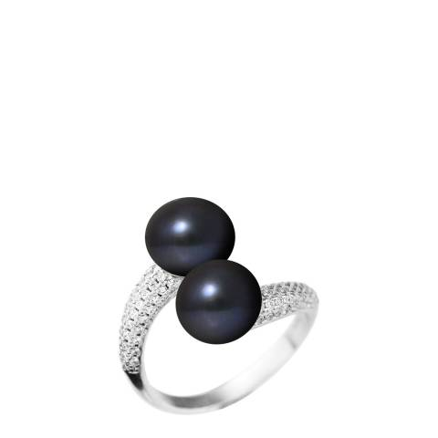Mitzuko Black Pearl Twist Ring