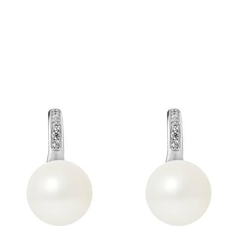Mitzuko White Pearl Silver Earrings