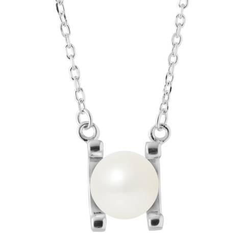 Mitzuko Silver Pearl Necklace