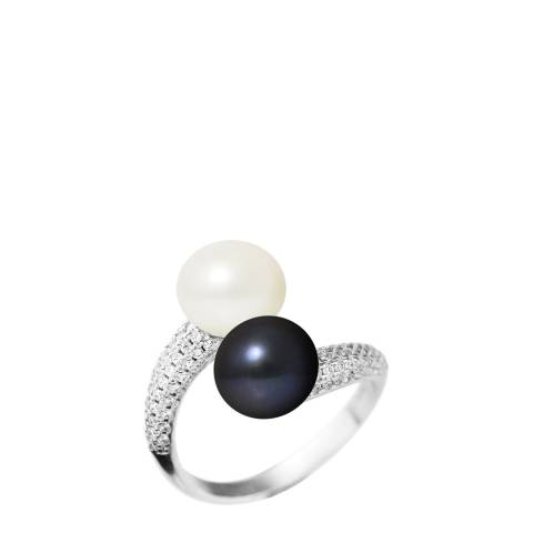 Mitzuko Silver Pearl Twist Ring