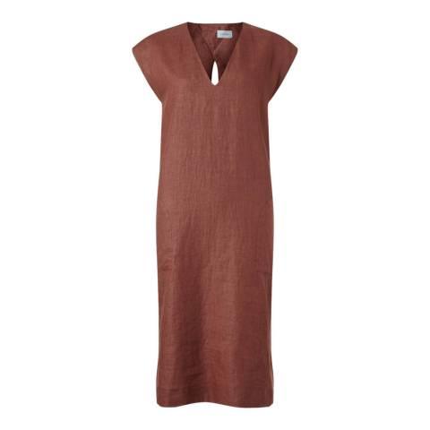 Jigsaw Linen V Neck Dress