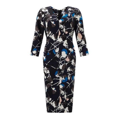 Jigsaw Floral Thistle Viola Dress