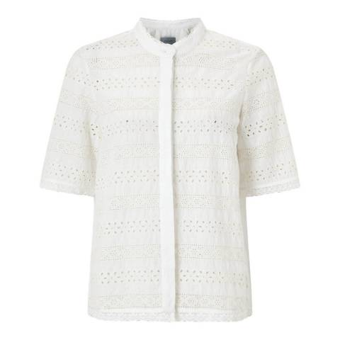 Jigsaw Broderie Cotton Shirt