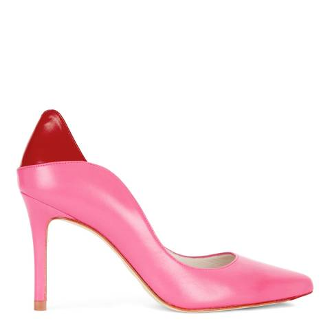 Lulu Guinness Pink Leather 2nd Glance Lips Beatrice Court Shoes