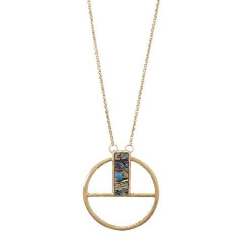 Liv Oliver Geometric Shell Necklace
